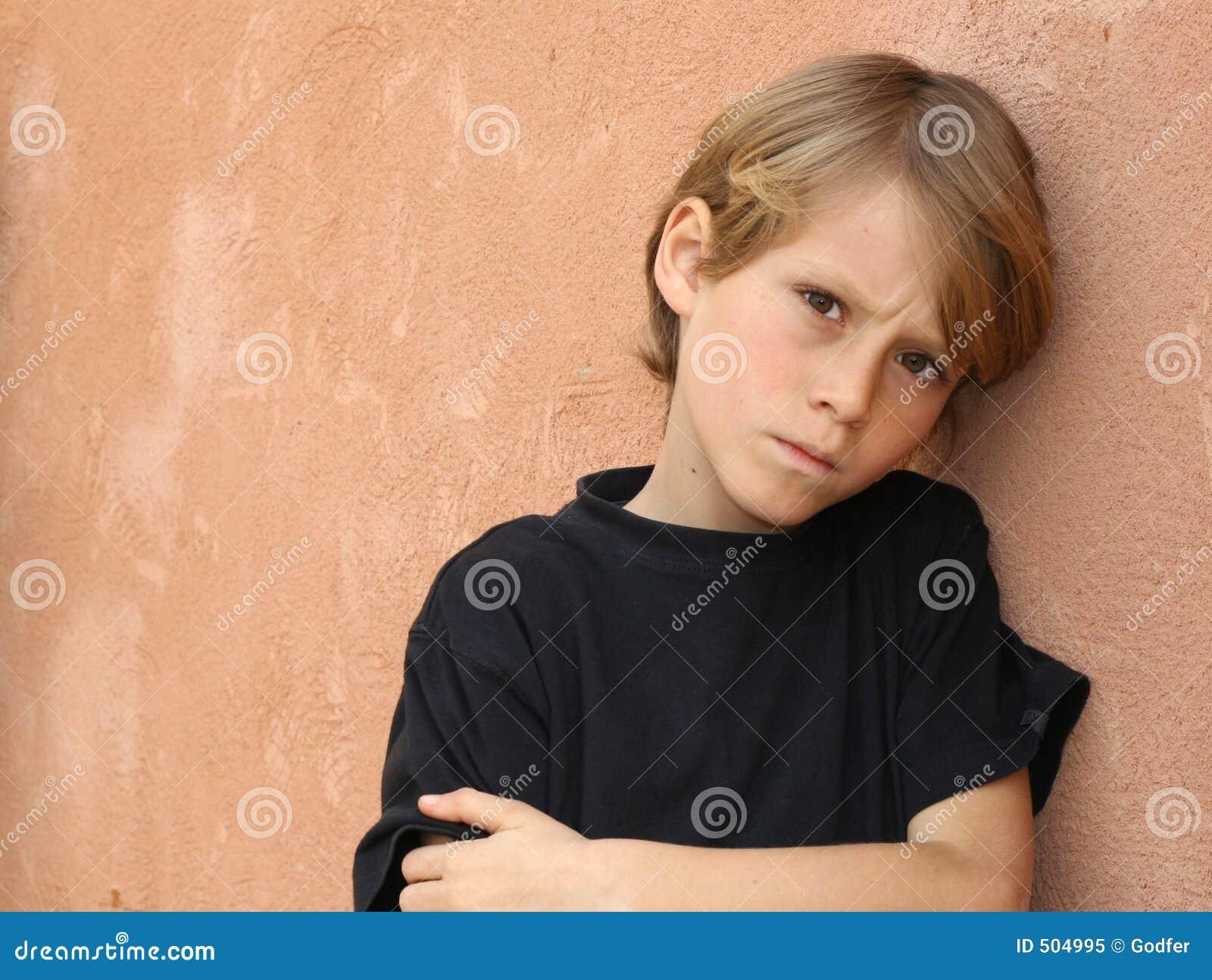 Olyckligt för ensamma problem för barn SAD