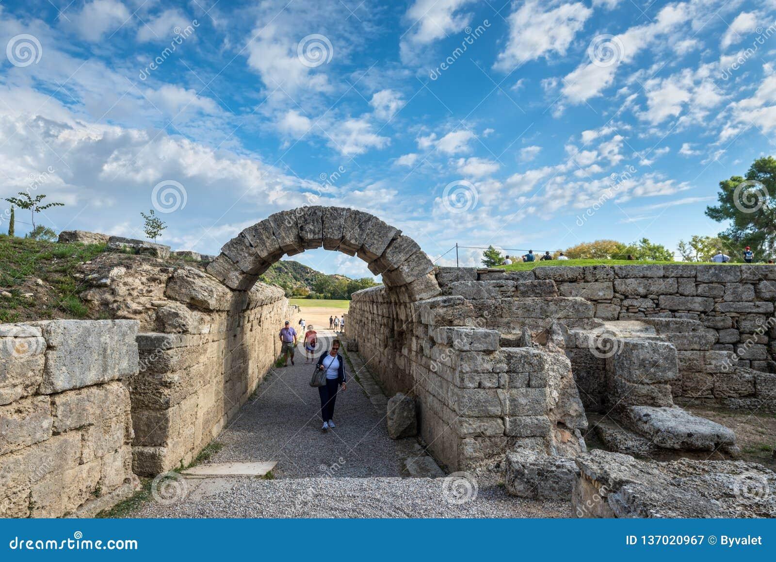 Olympia forntida stadion i Grekland