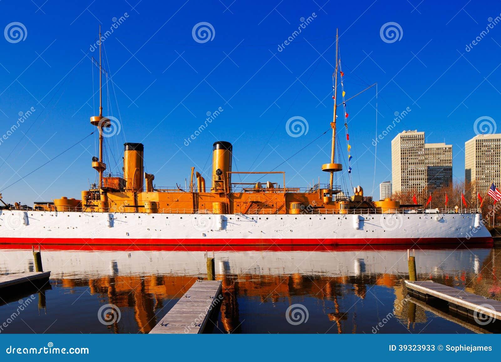 A Olympia protegida de USS do cruzador, em Philadelphfia