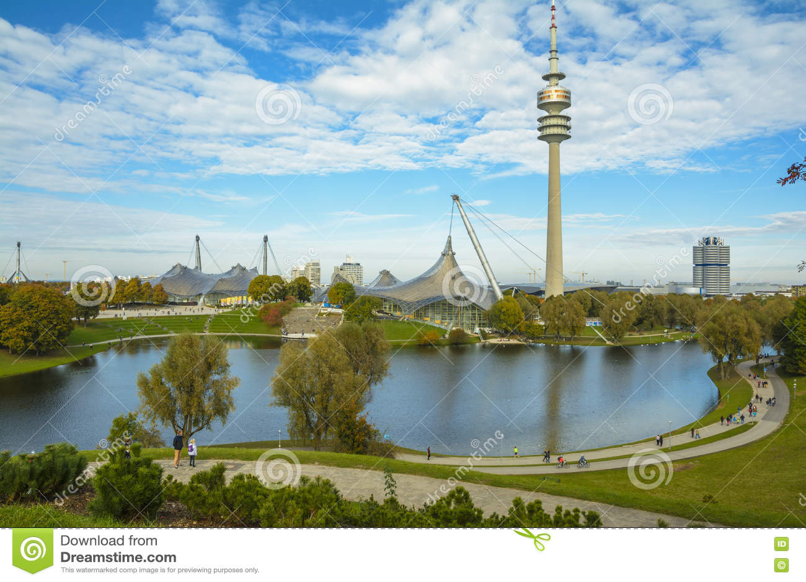 Olympiapark In Munich Bavaria Germany Editorial Photo