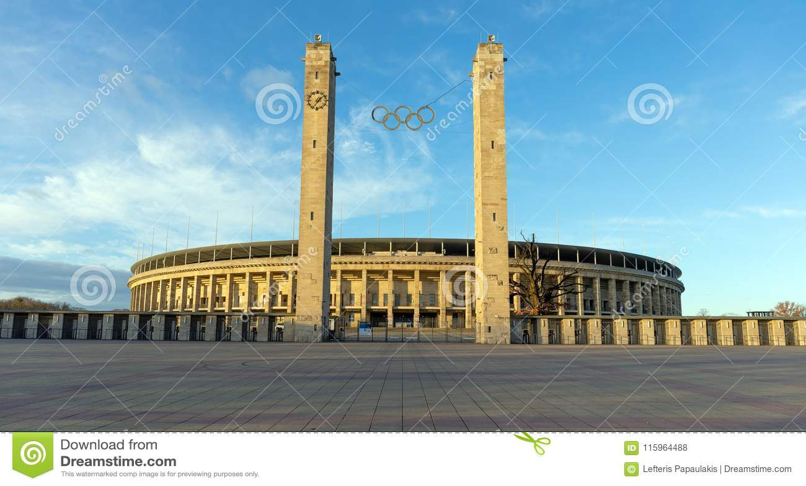 The Olympiastadion Berlin Germany Editorial Stock Photo Image Of Athletics Emblem 115964488
