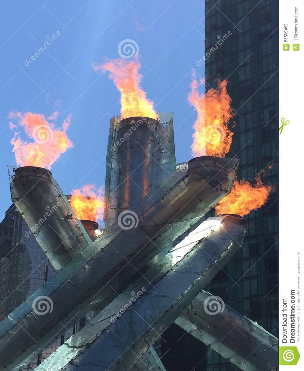 The Olympic Cauldron, Vancouver Editorial Stock Photo ...