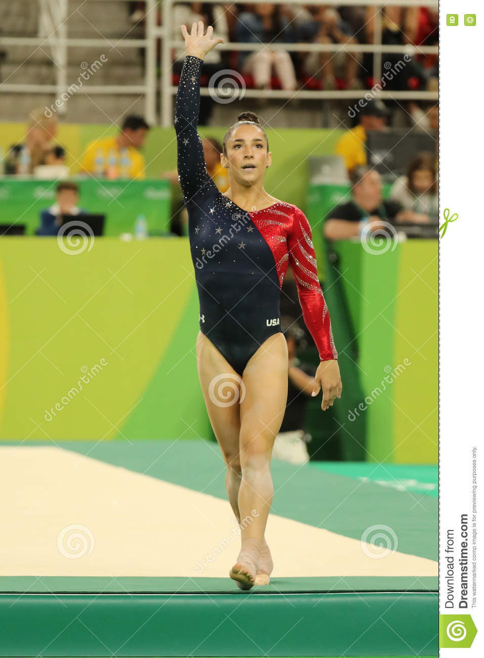 Olympic Champion Aly Raisman Of Usa After Competing On The