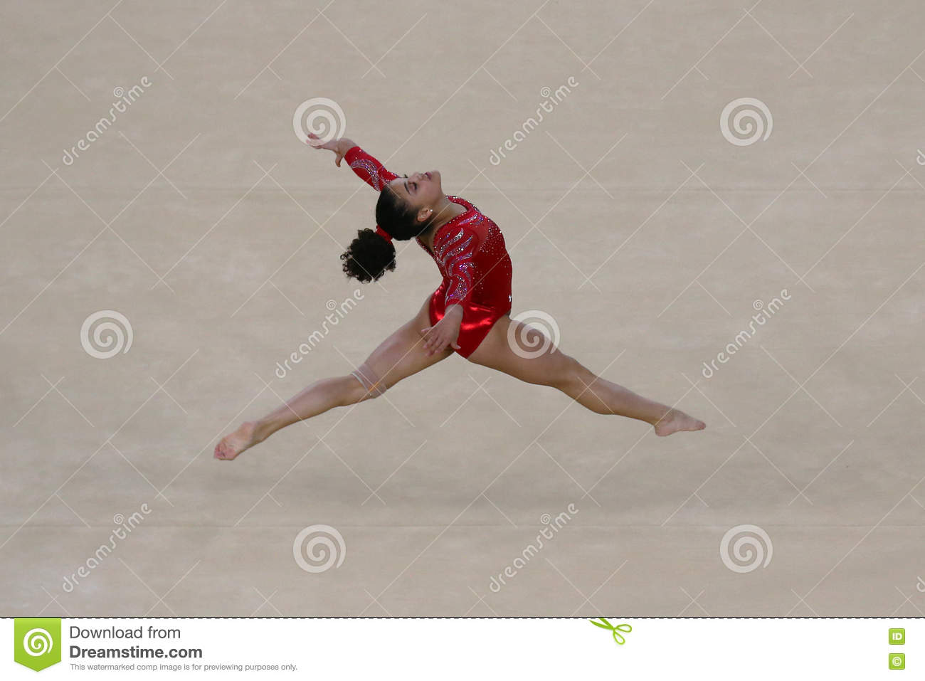 Floor Gymnastics Olympics In Olympic Champion Laurie Hernandez Of United States During An Artistic Gymnastics Floor Exercise Training Session For Champion Of During An