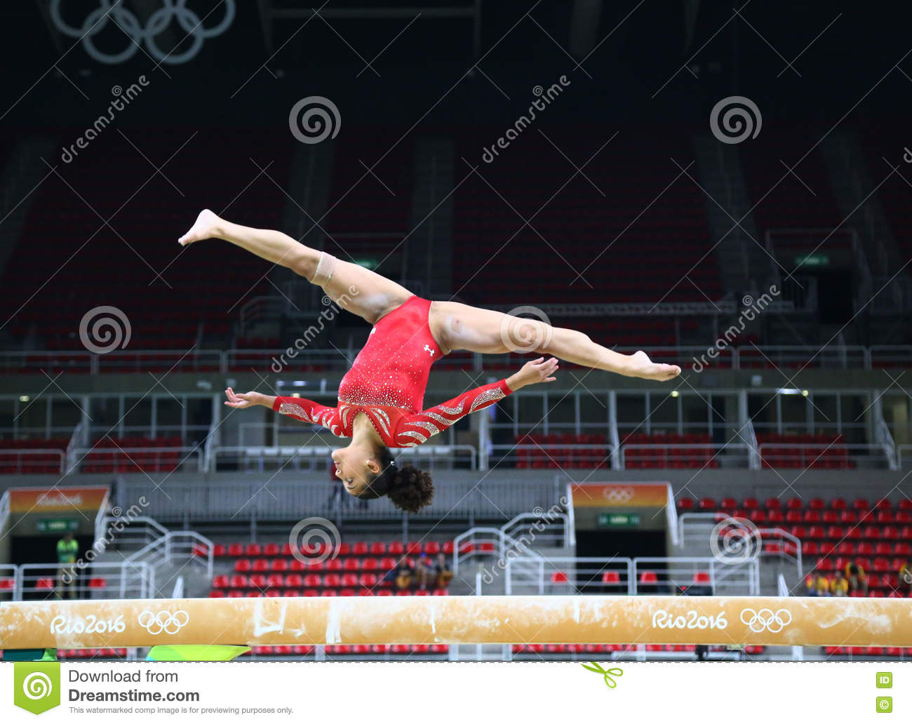Olympic champion Laurie Hernandez of United States practices on the balance  beam before women`s 9f0cee15f
