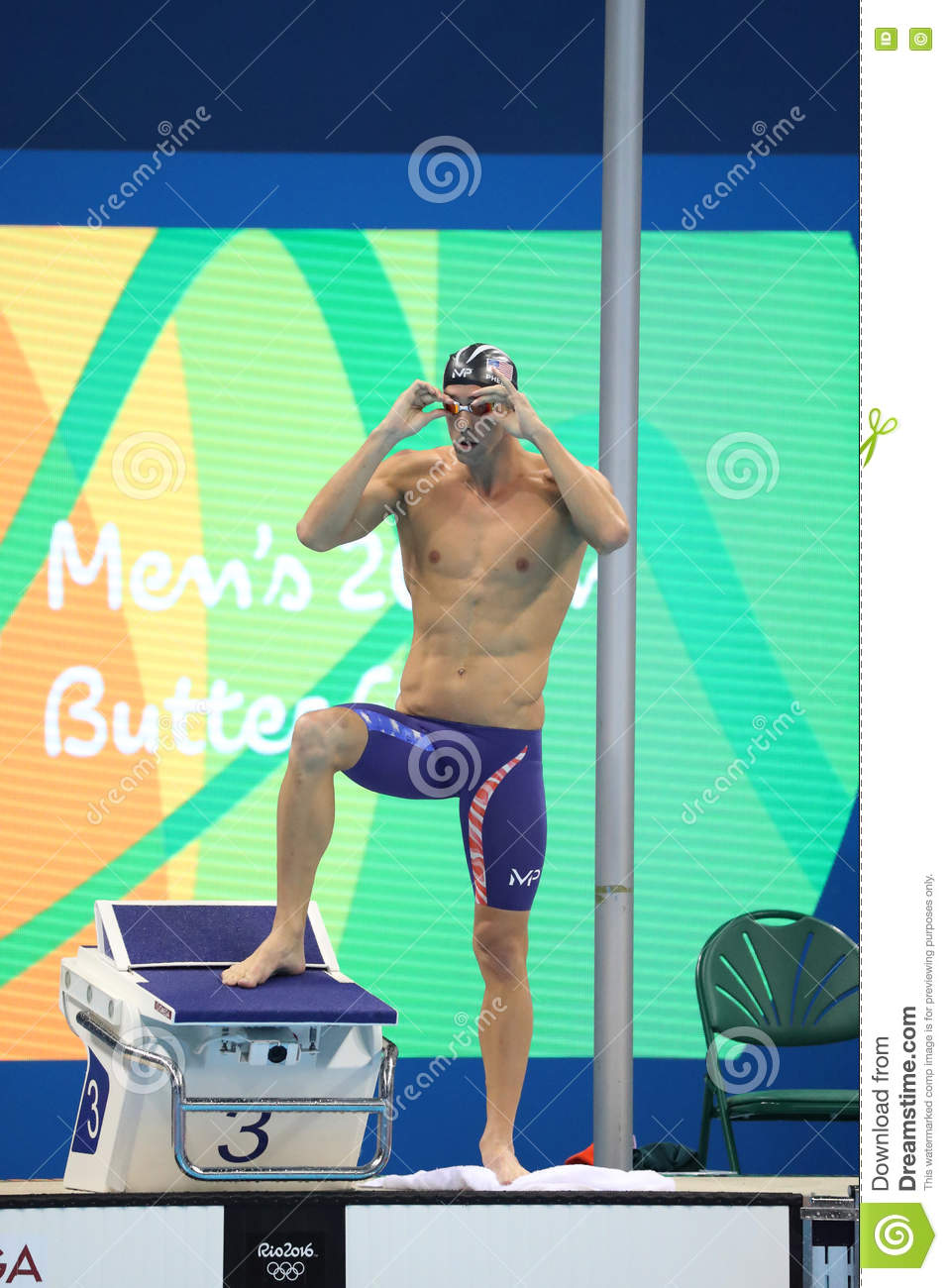 Olympic champion Michael Phelps of United States before swimming the Men s 200m butterfly at Rio 2016 Olympic Games
