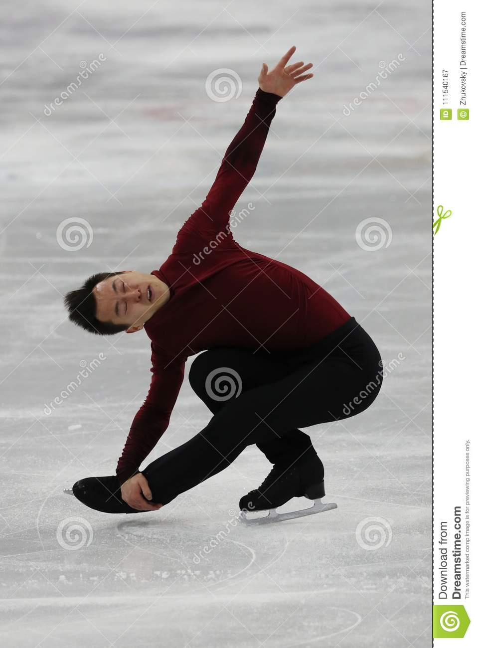 Olympic champion Patrick Chan of Canada performs in the Team Event Men Single Skating Free Skating at the 2018 Winter Olympics