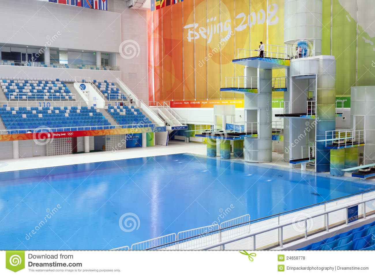 Olympic diving platforms editorial stock photo image of center 24658778 for How deep is a olympic swimming pool