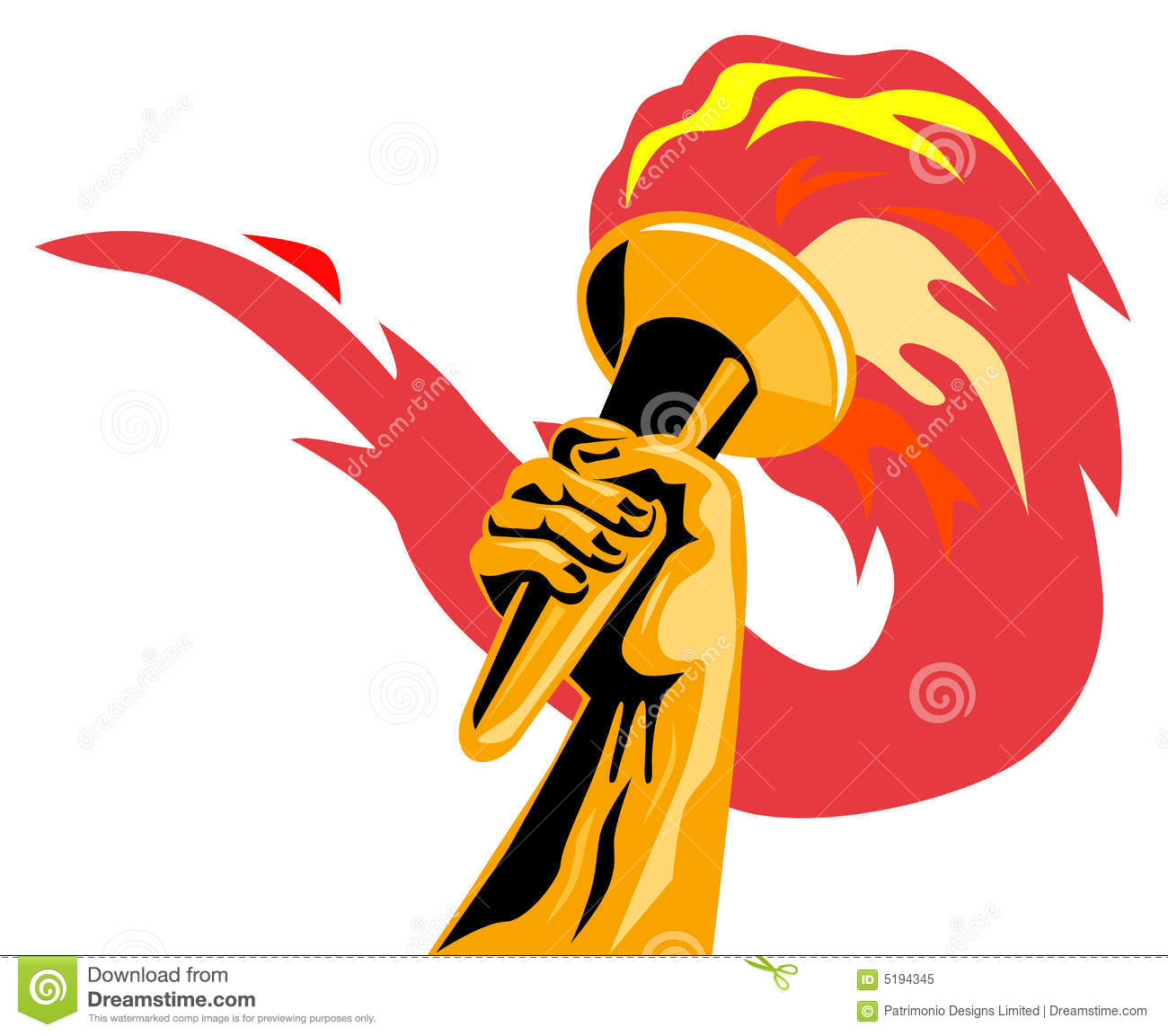 Olympic flame stock vector. Illustration of fire, hand - 5194345 for Olympic Torch Vector Free Download  300lyp