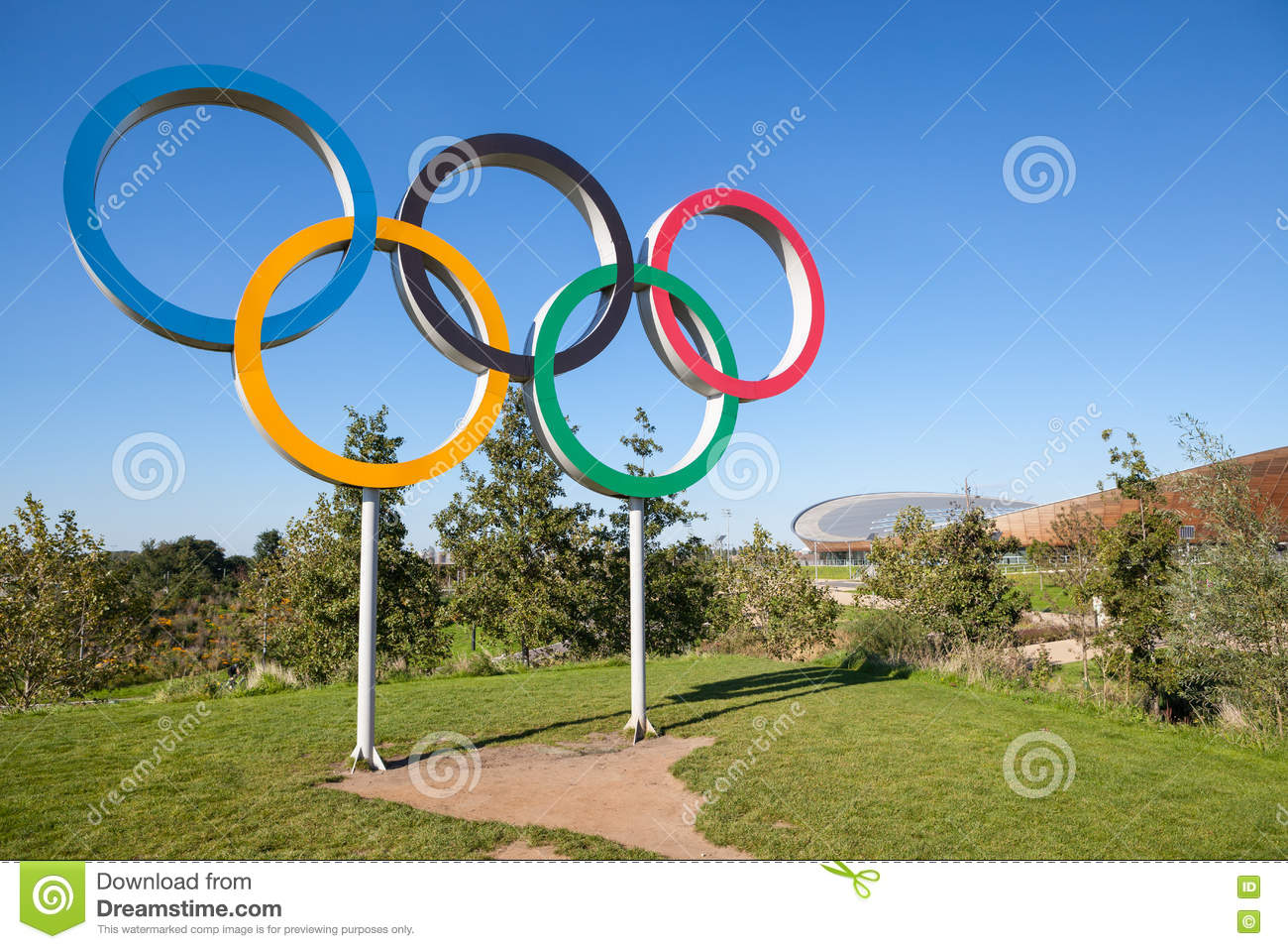 The olympic games symbol in a park editorial stock photo image the olympic games symbol in a park editorial stock photo buycottarizona