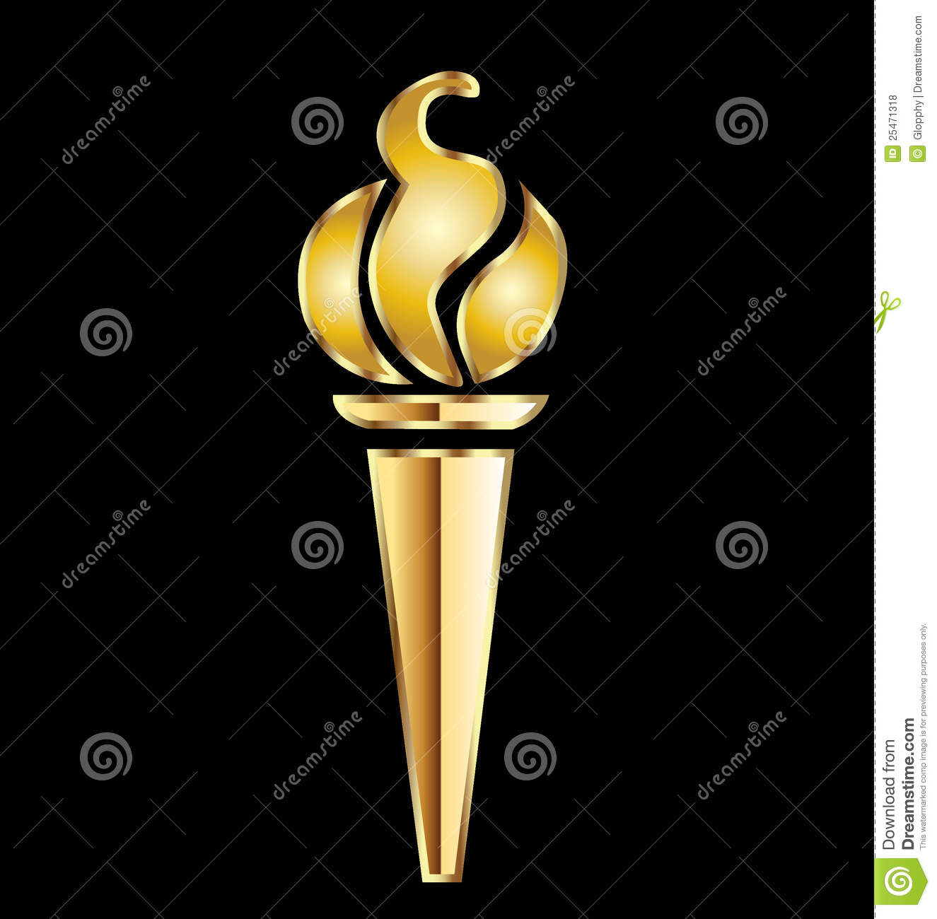 olympic gold torch royalty free stock photos image 25471318