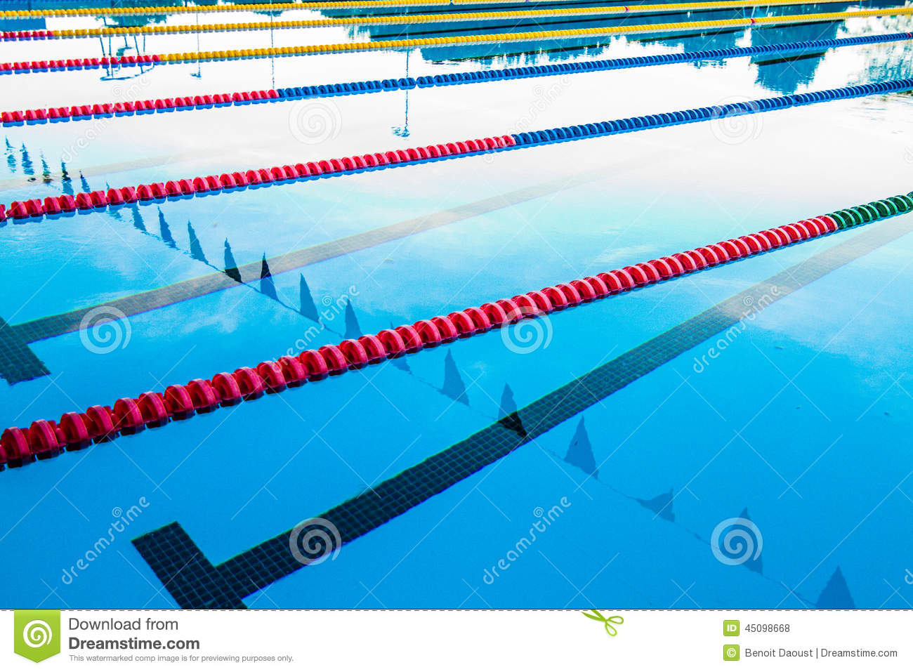 Olympic pool corridor cables floating stock photo image for 50m pool design