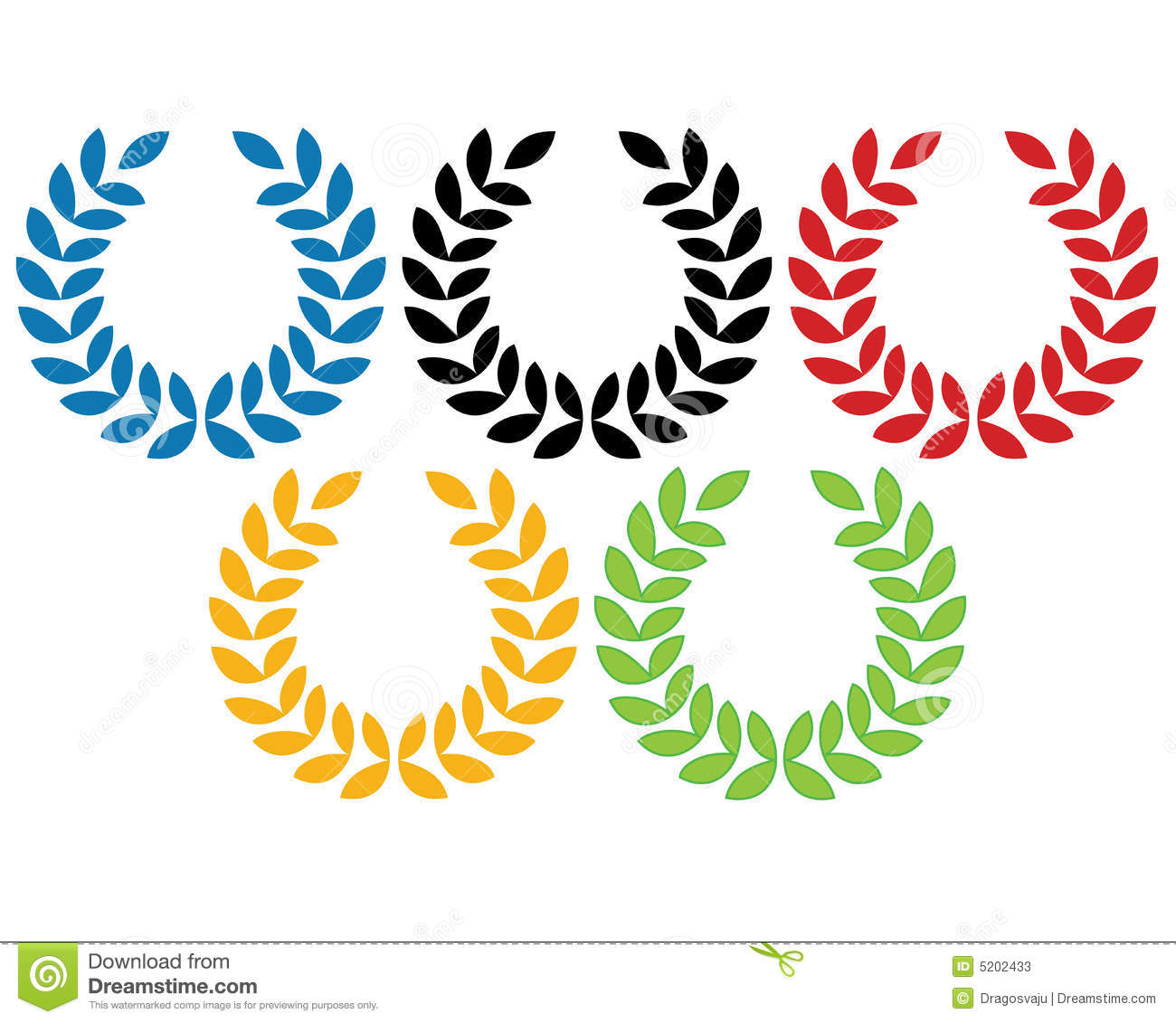 olympic rings stock vector image of leaf  decoration olympic rings clipart free olympic rings clipart free