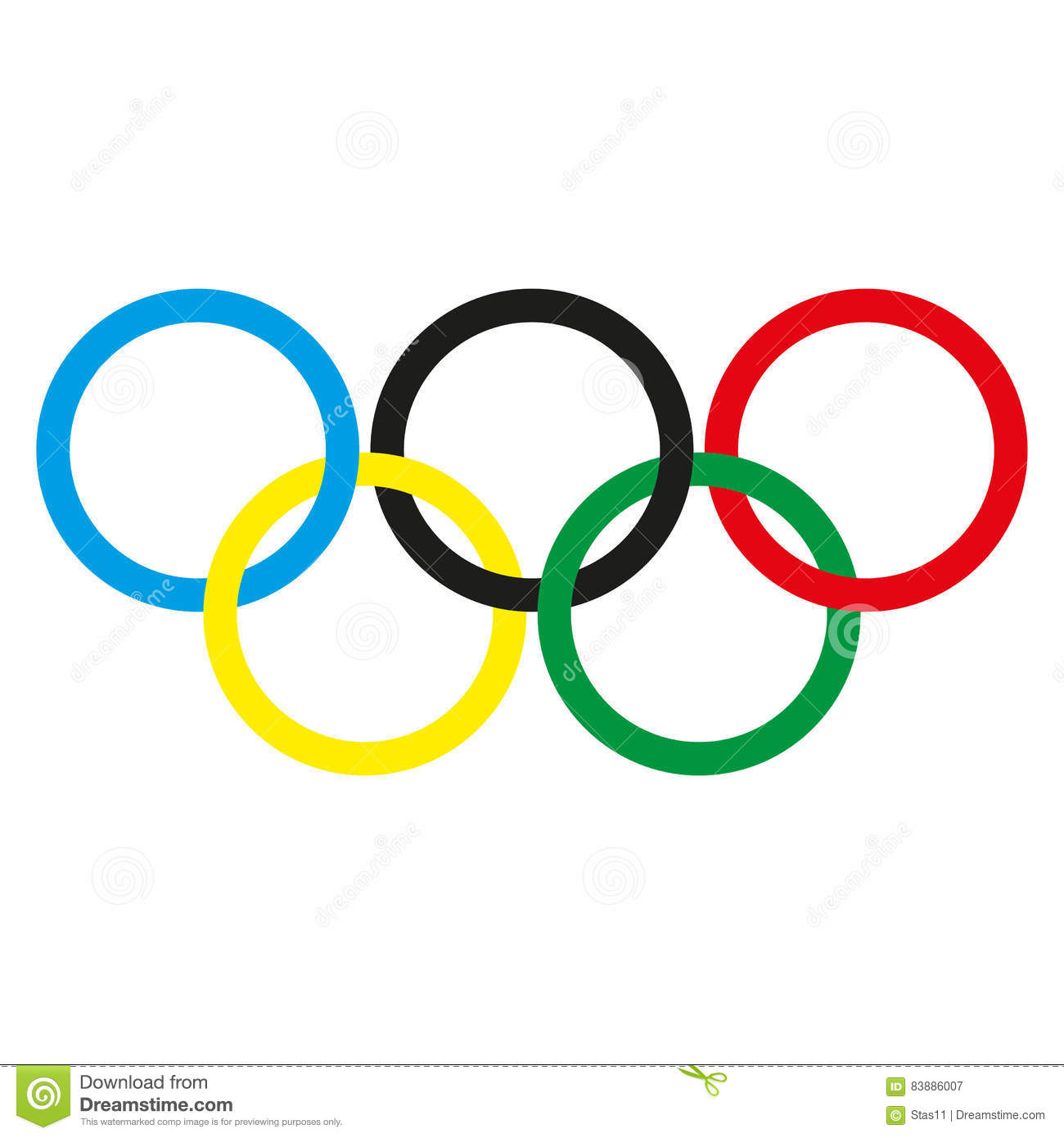 olympic rings on a white background vector illustration stock rh dreamstime com olympic symbol clip art free printable olympic rings clip art