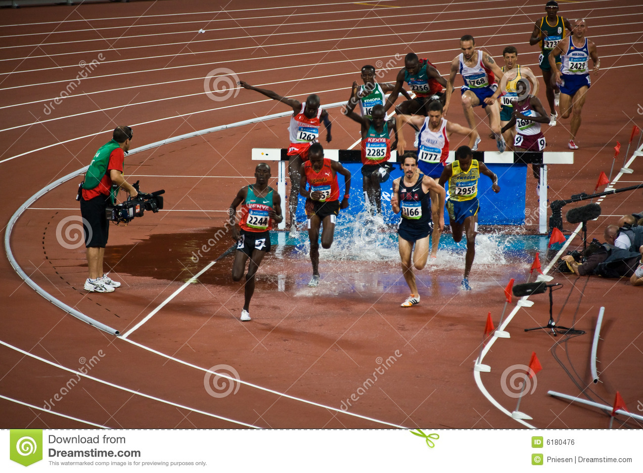 Olympic Runners In Men 39 S Steeple Chase Editorial Photo
