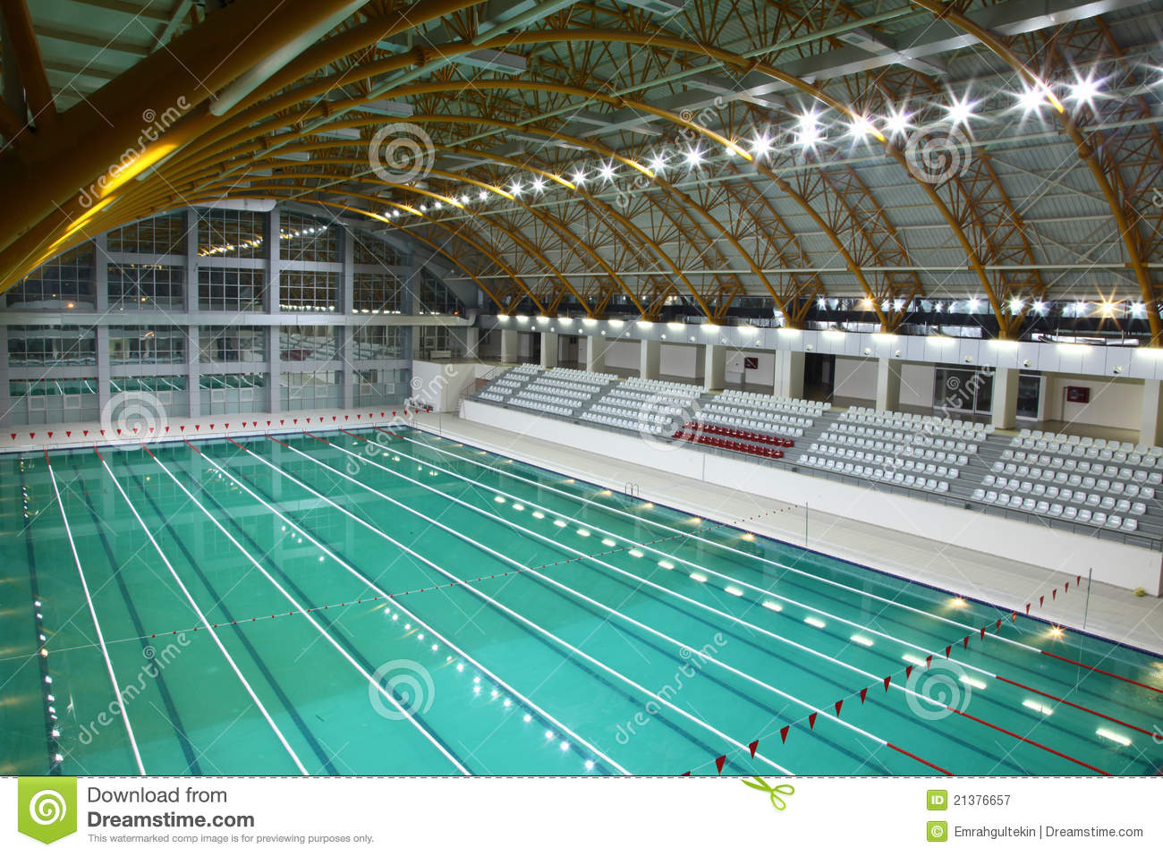 Olympic Sized Swimming Pool Royalty Free Stock Photography Image