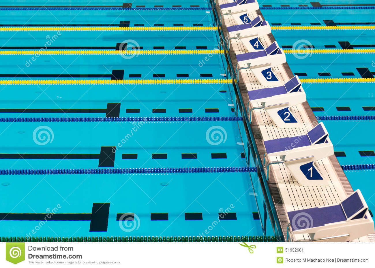 Olympic Sport Competition Swimming Pool Lanes Stock Photo