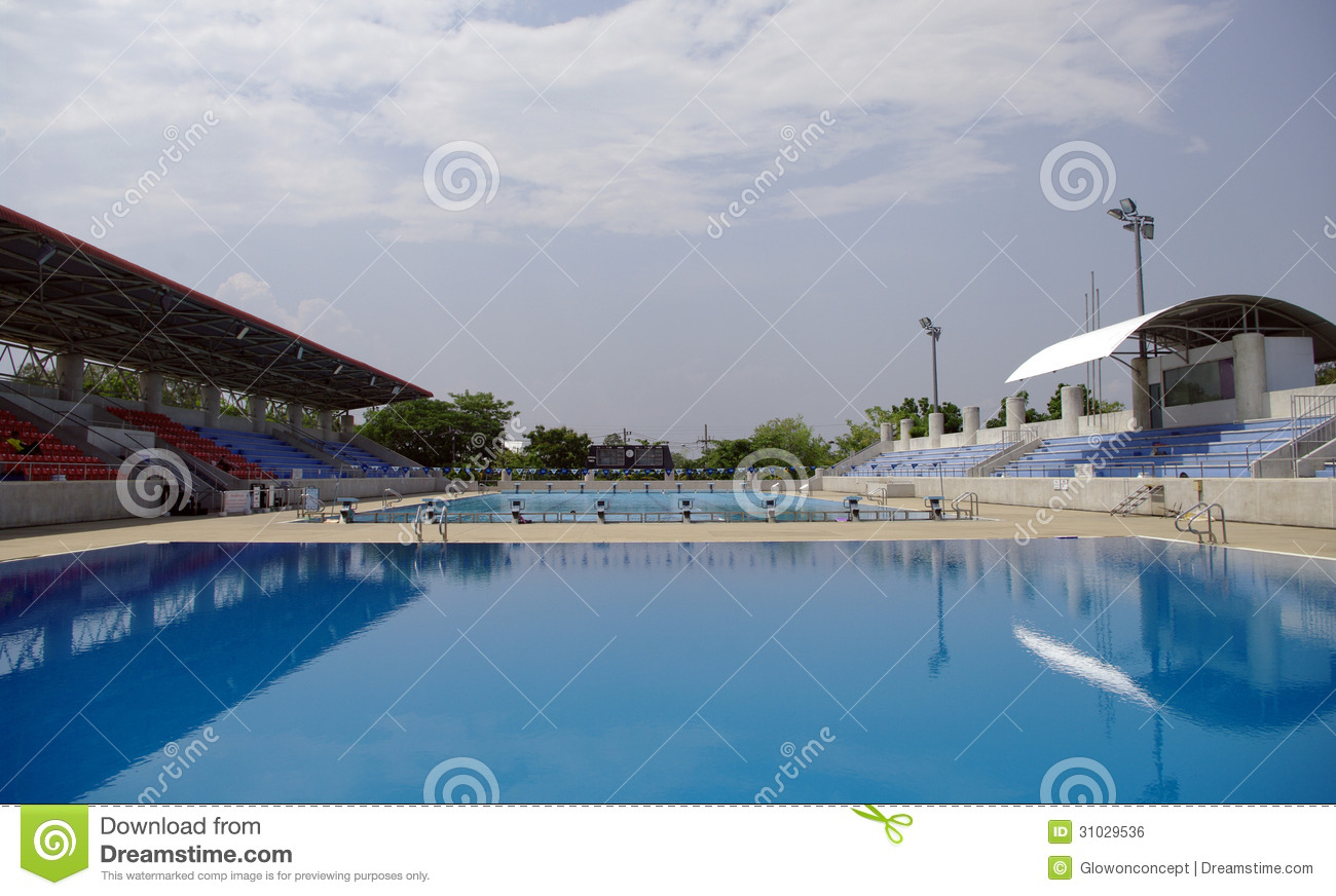 Olympic swimming and diving pool royalty free stock image image 31029536 for Standard swimming pool size uk