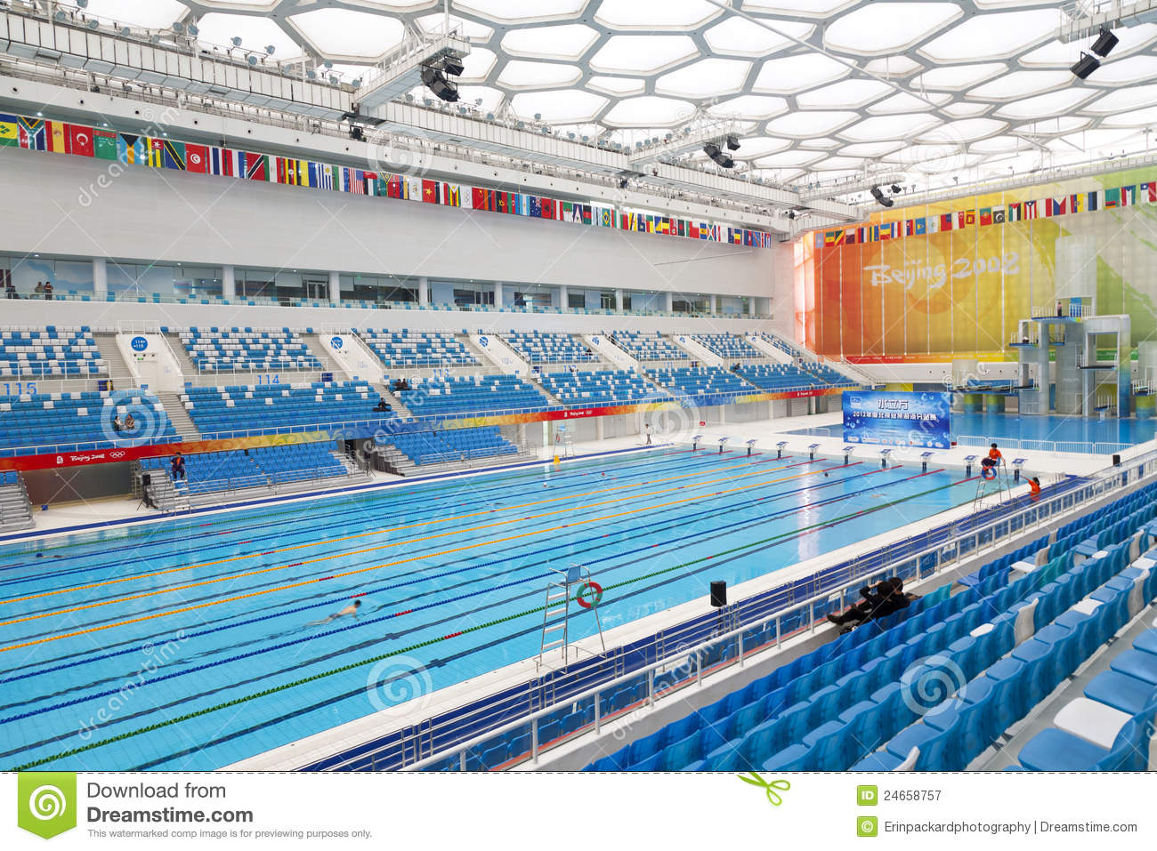Olympic swimming pool editorial photography image of pools 24658757 for Beijing swimming pool olympics