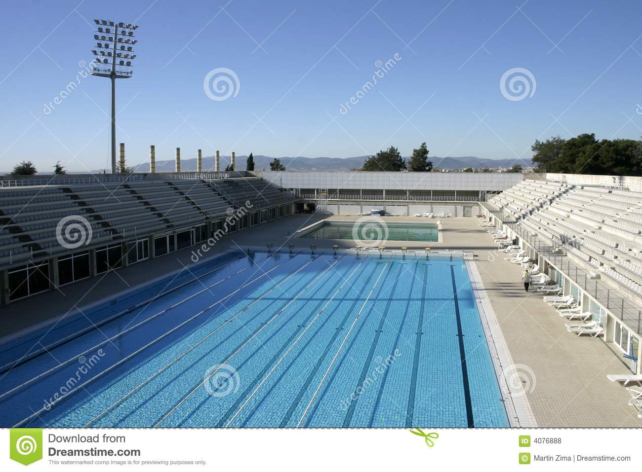 Olympic Swimming Pool Royalty Free Stock Photos Image 4076888