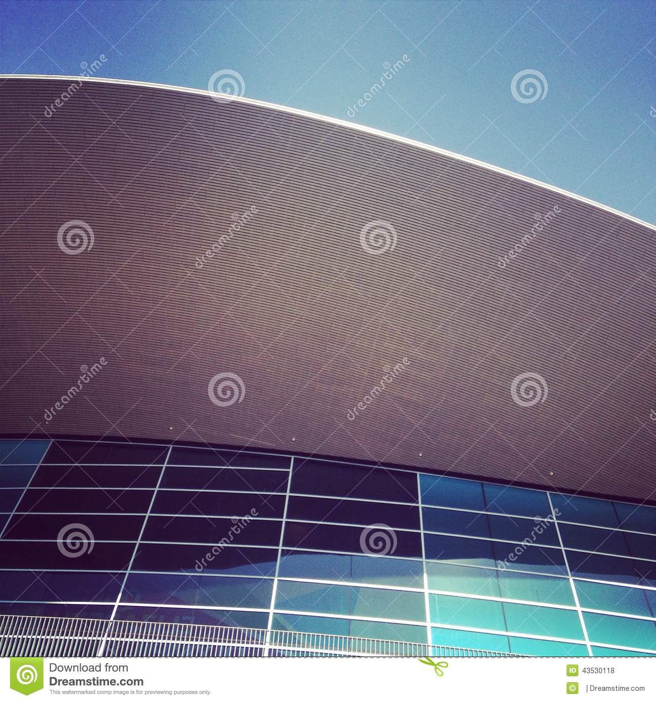 Olympic Swimming Pool In Person: Olympic Swimming Pool Stock Photo