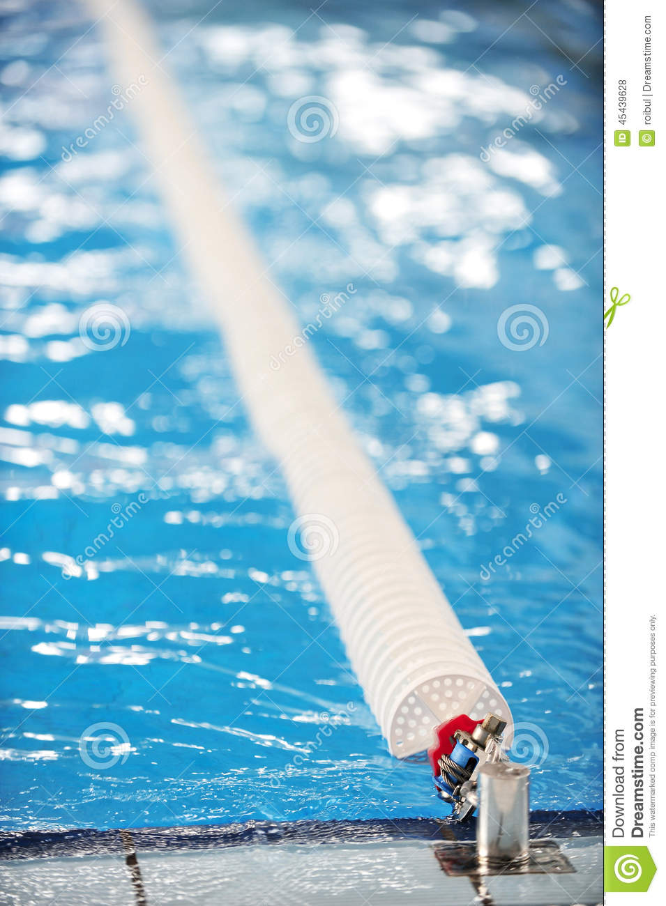 Olympic Swimming Pool Lane Divider Stock Photo Image 45439628