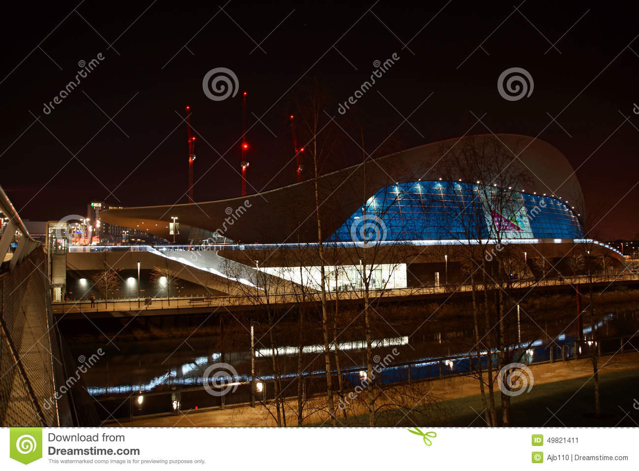 Olympic swimming pool stock photo image 49821411 for Late night swimming pools london