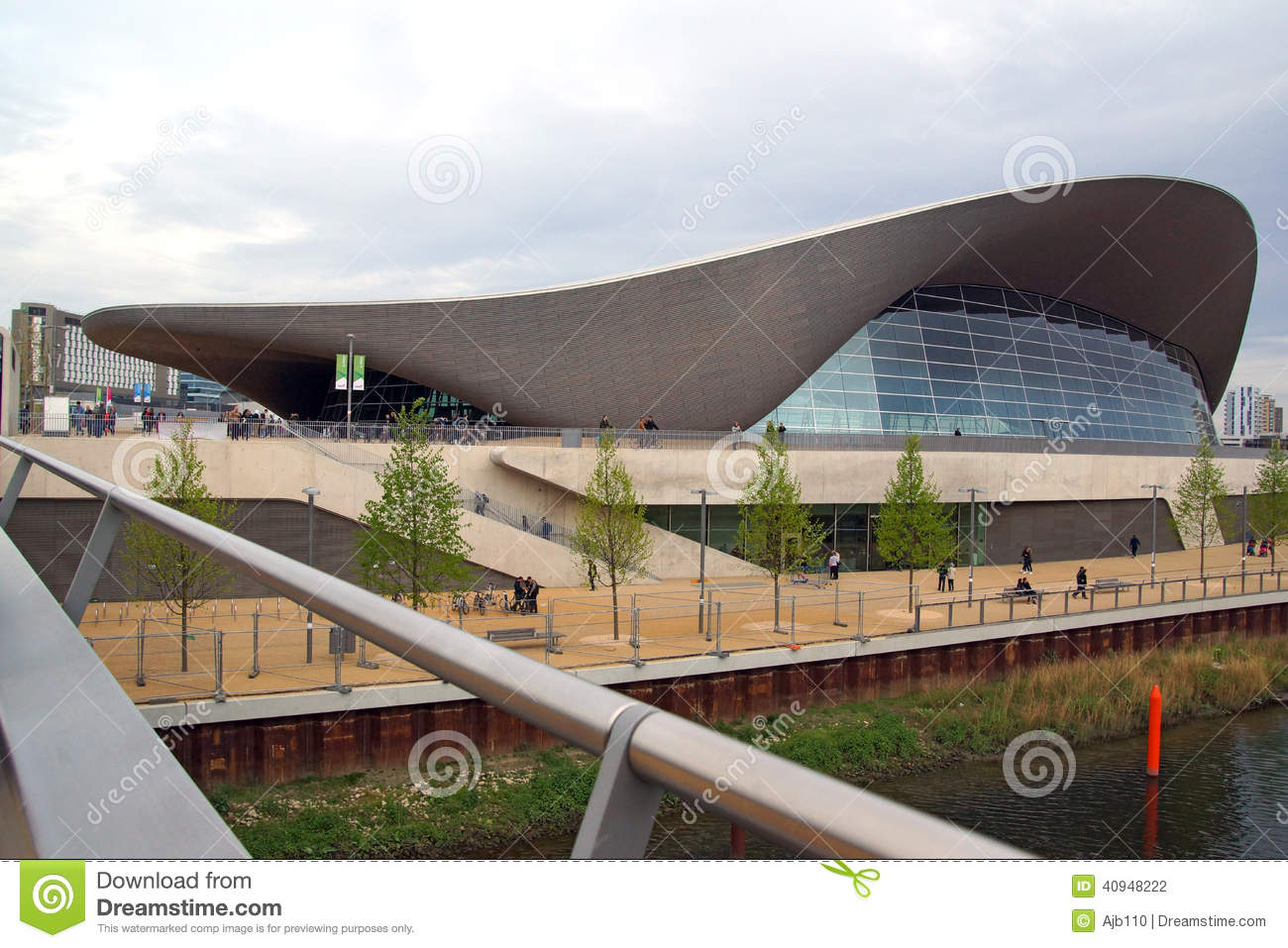 Elizabeth London Olympic Park Pool Queen Stratford Swimming
