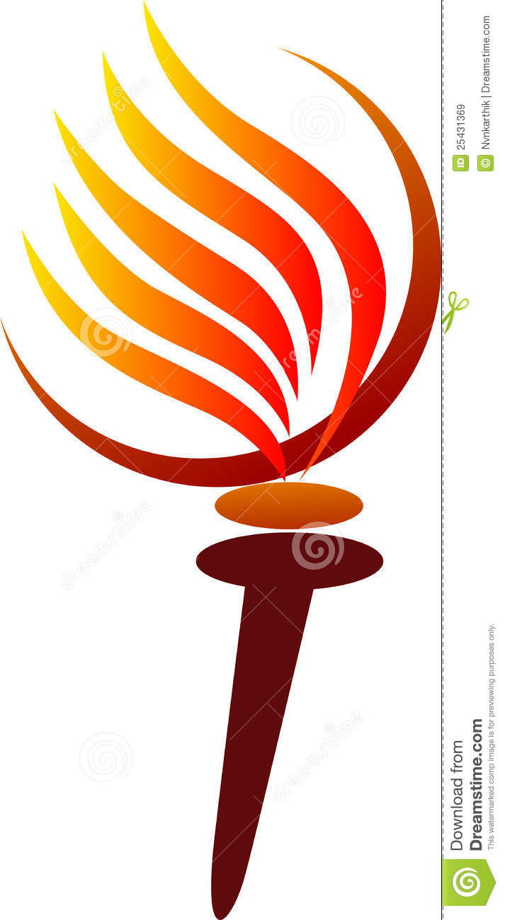 Olympic torch stock vector. Illustration of cartoon, flaming ... for Olympic Torch Vector Free Download  195sfw