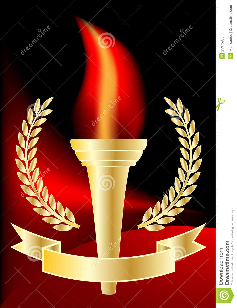 Olympic torch stock vector. Image of champion, freedom - 25975855 for Olympic Torch Vector Free Download  539wja