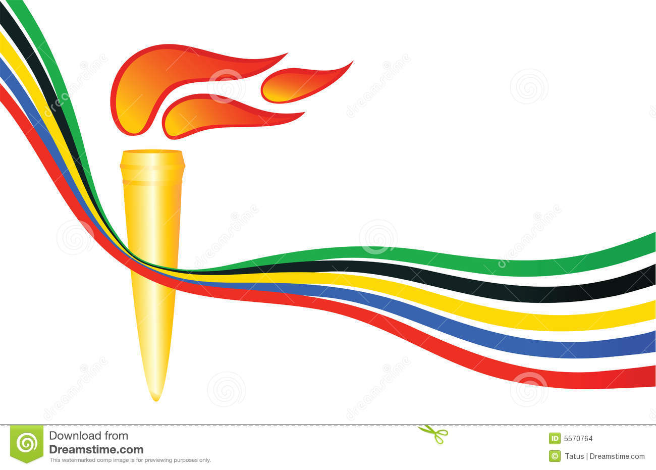 Olympic torch stock vector. Illustration of round, contest - 5570764 for Olympic Torch Vector Free Download  557ylc