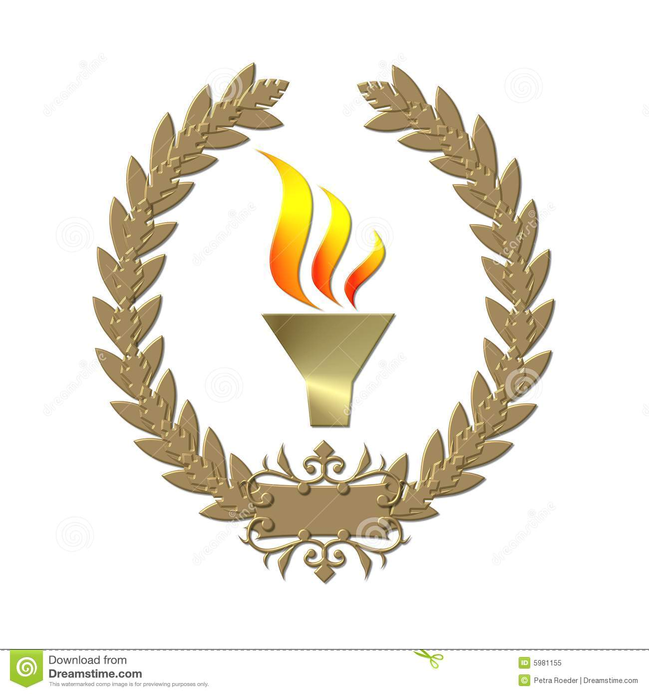 Olympic flame and wreath stock illustration. Illustration of ... for Olympic Torch Fire  535wja
