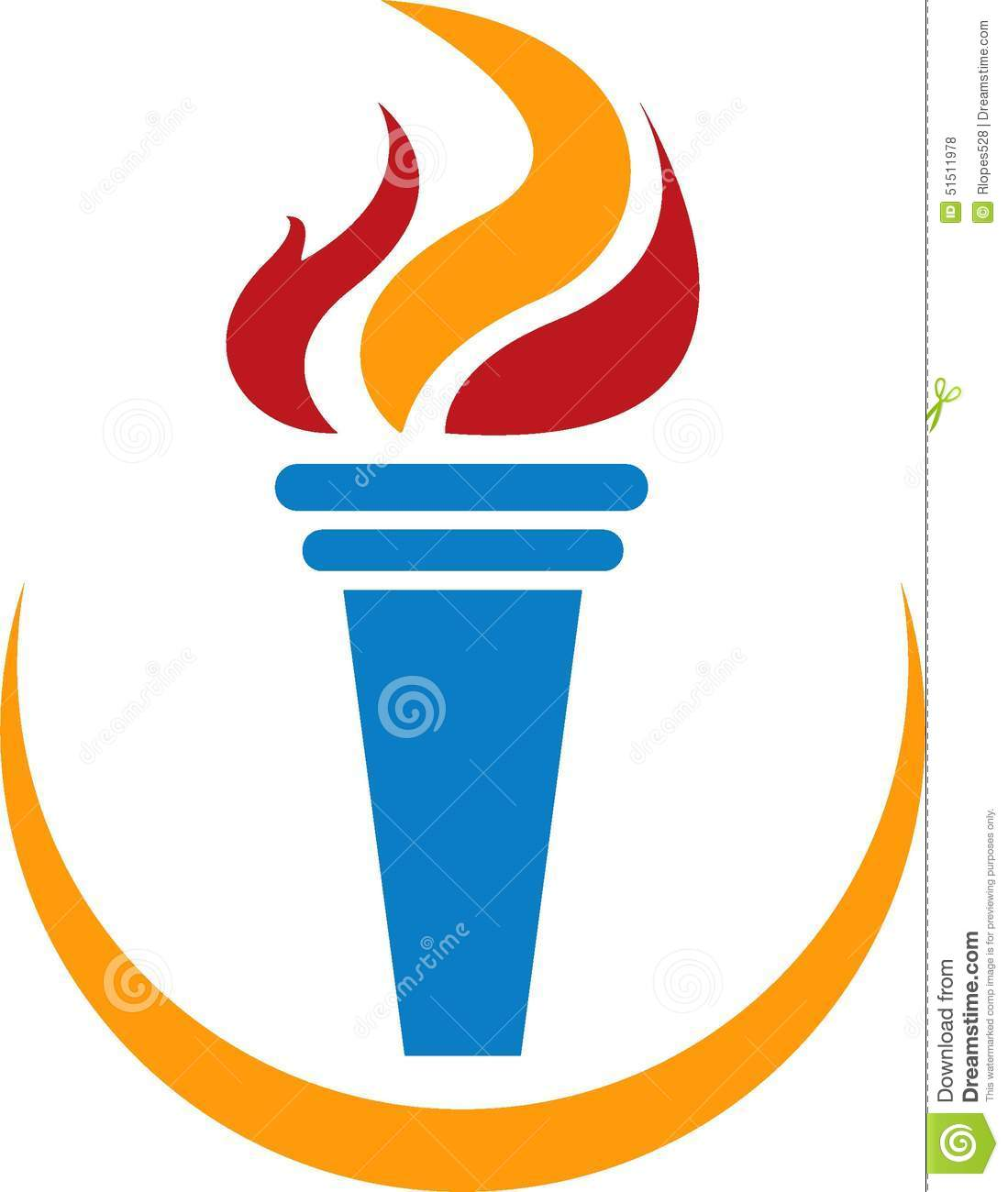 Olympic Torch stock vector. Illustration of game, fire - 51511978 for Olympic Torch Vector Free Download  83fiz