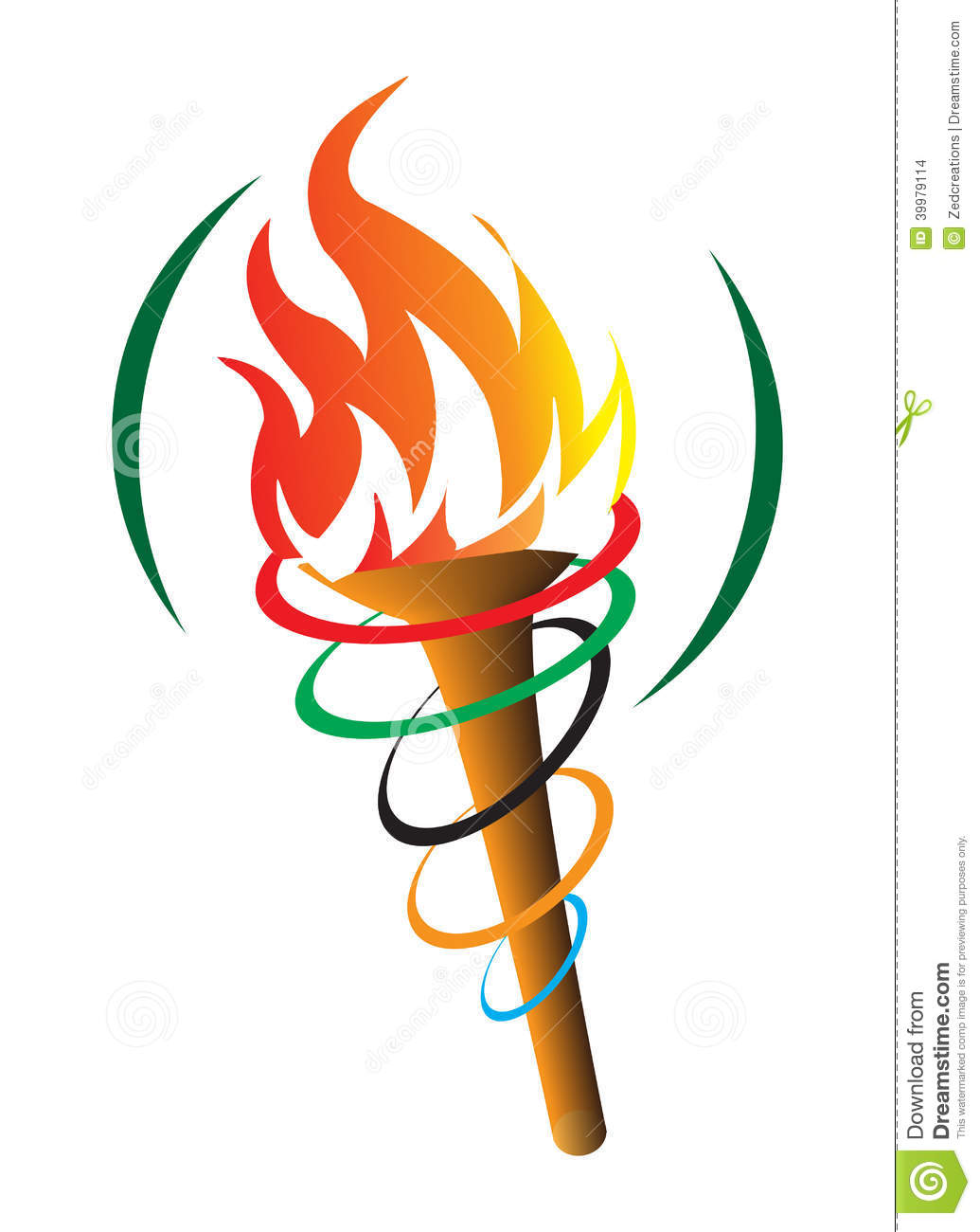Olympic Torch stock vector. Illustration of clip, fire - 39979114 for Olympic Torch Fire  55nar