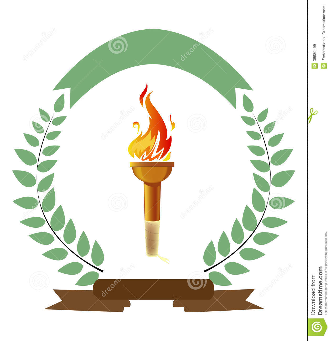 Olympic Torch stock vector. Illustration of event, champion - 39980499 for Olympic Torch Fire  268zmd