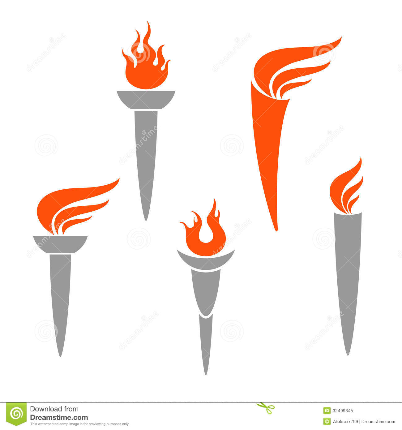 Olympic Torch stock vector. Illustration of torch, vector - 32499845 for Olympic Torch Fire  45jwn