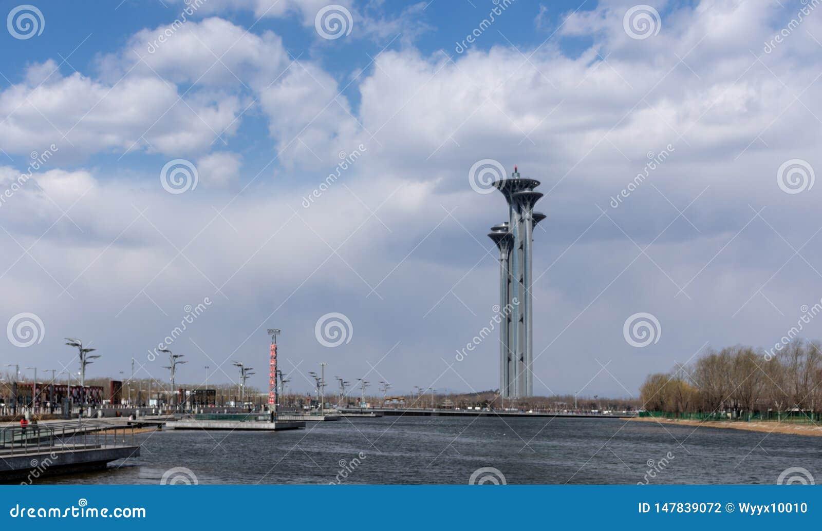 Olympische het Parkwatchtower van Peking, China