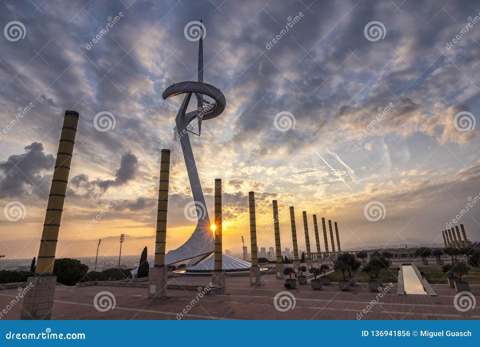 Olympisk cirkel av Montjuic