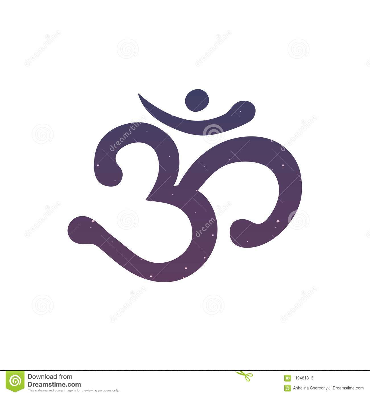 Om Aum Ohm India Sumbol Meditation Yoga Mantra Hinduism Buddhism