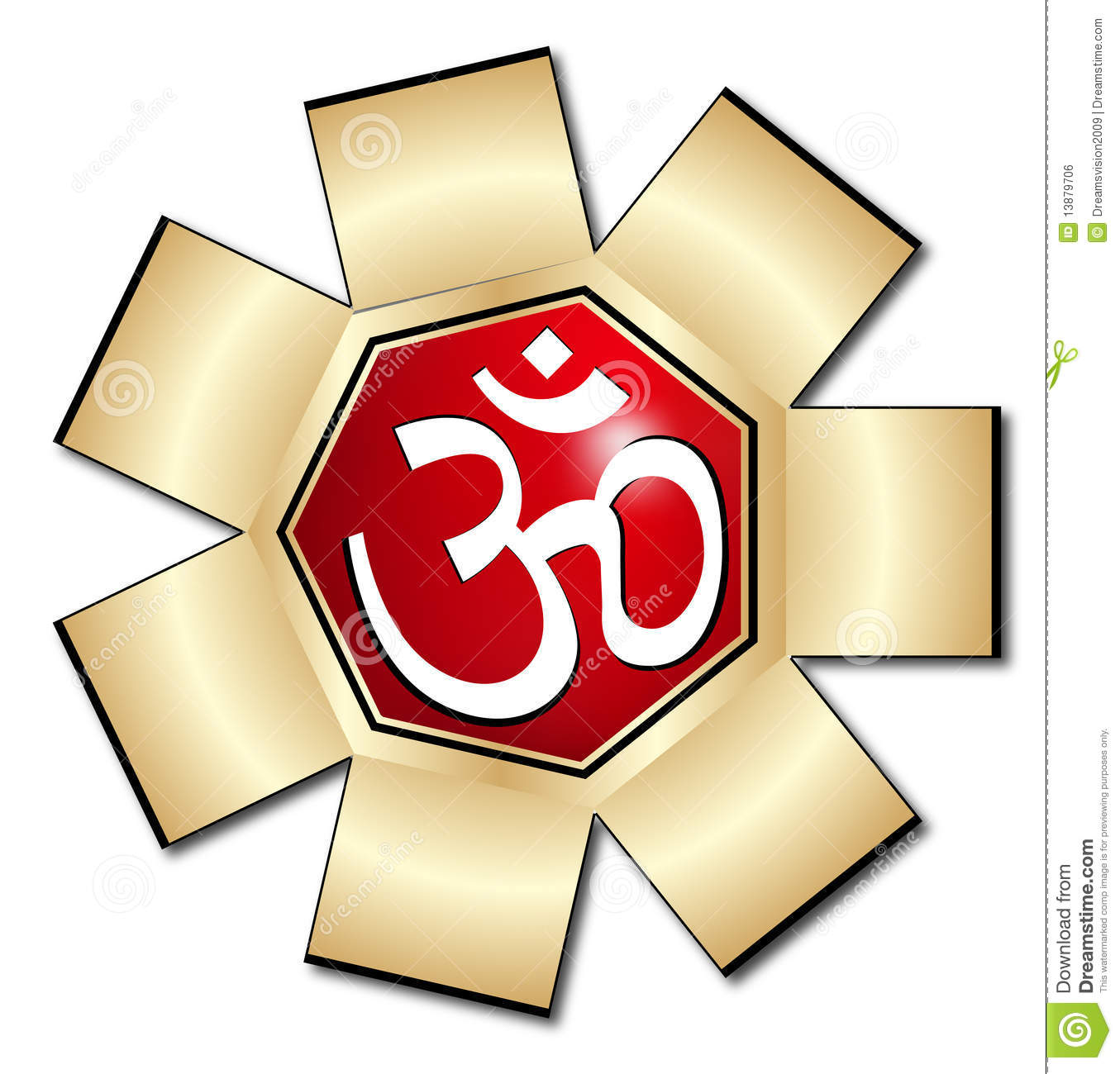 Om Aum Symbol Stock Vector Image Of Line Lucky