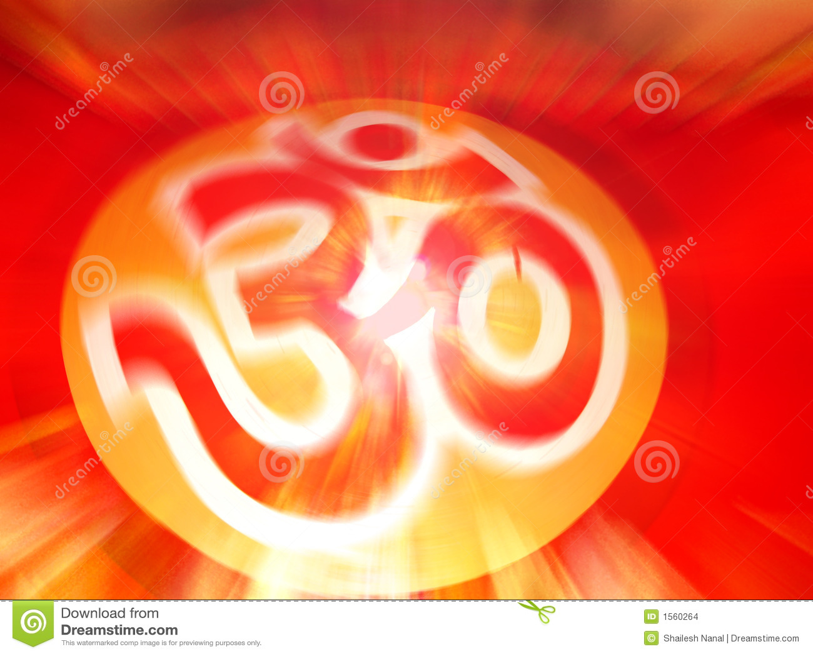 OM THE BEGINNING OF SPIRITUAL EVOLUTION Stock Images