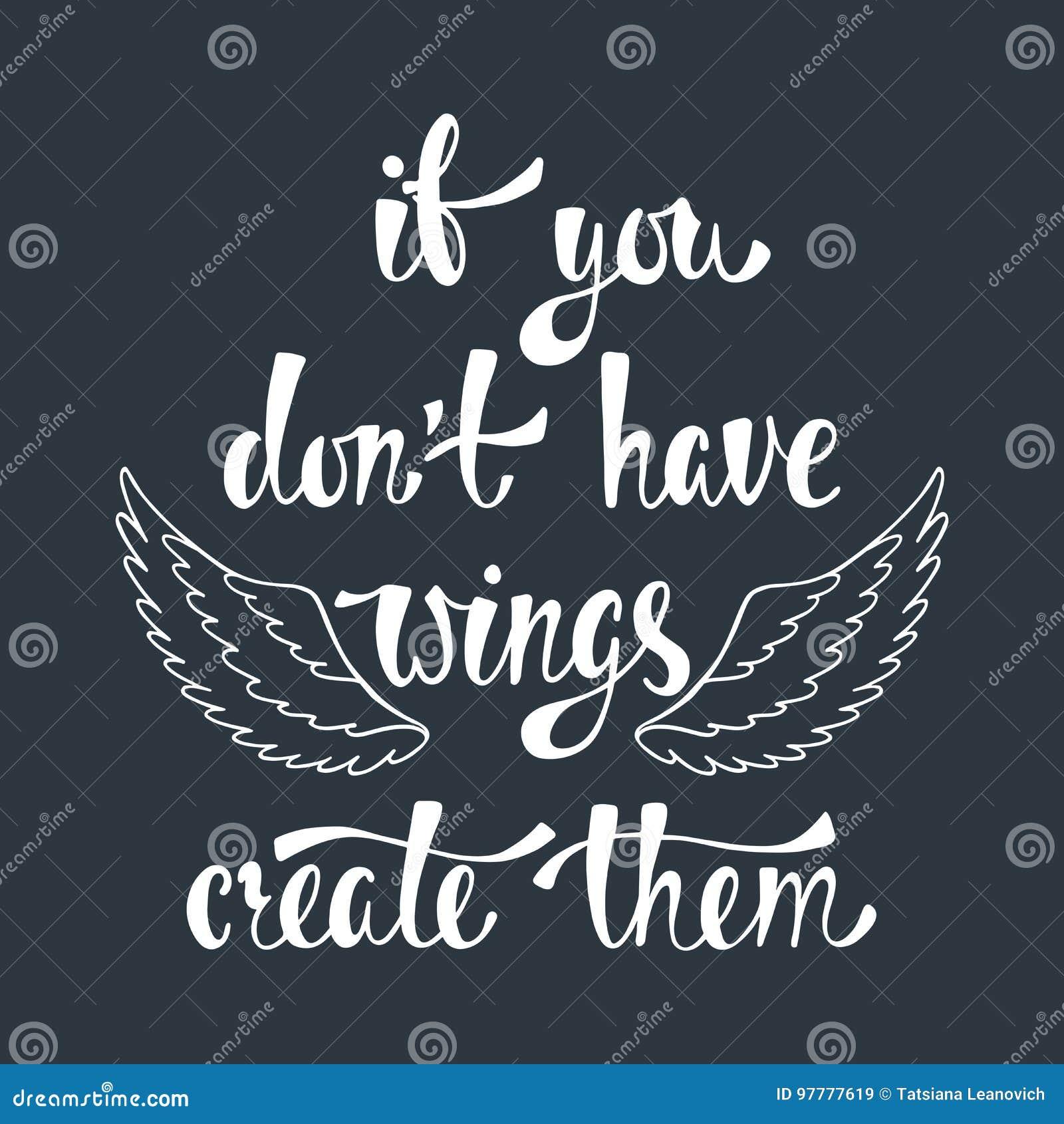 Om du universitetslärare` t har vingar, skapa dem Inspirerande citationstecken