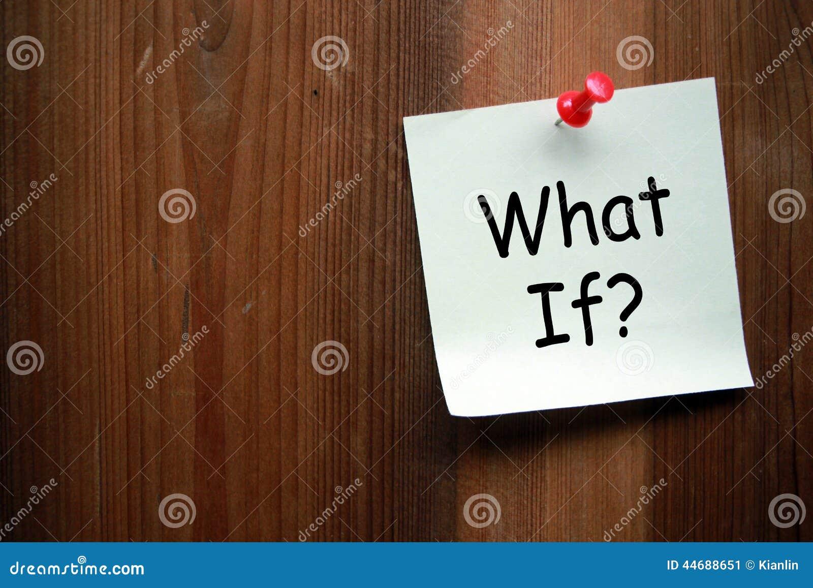 Om fråga vad