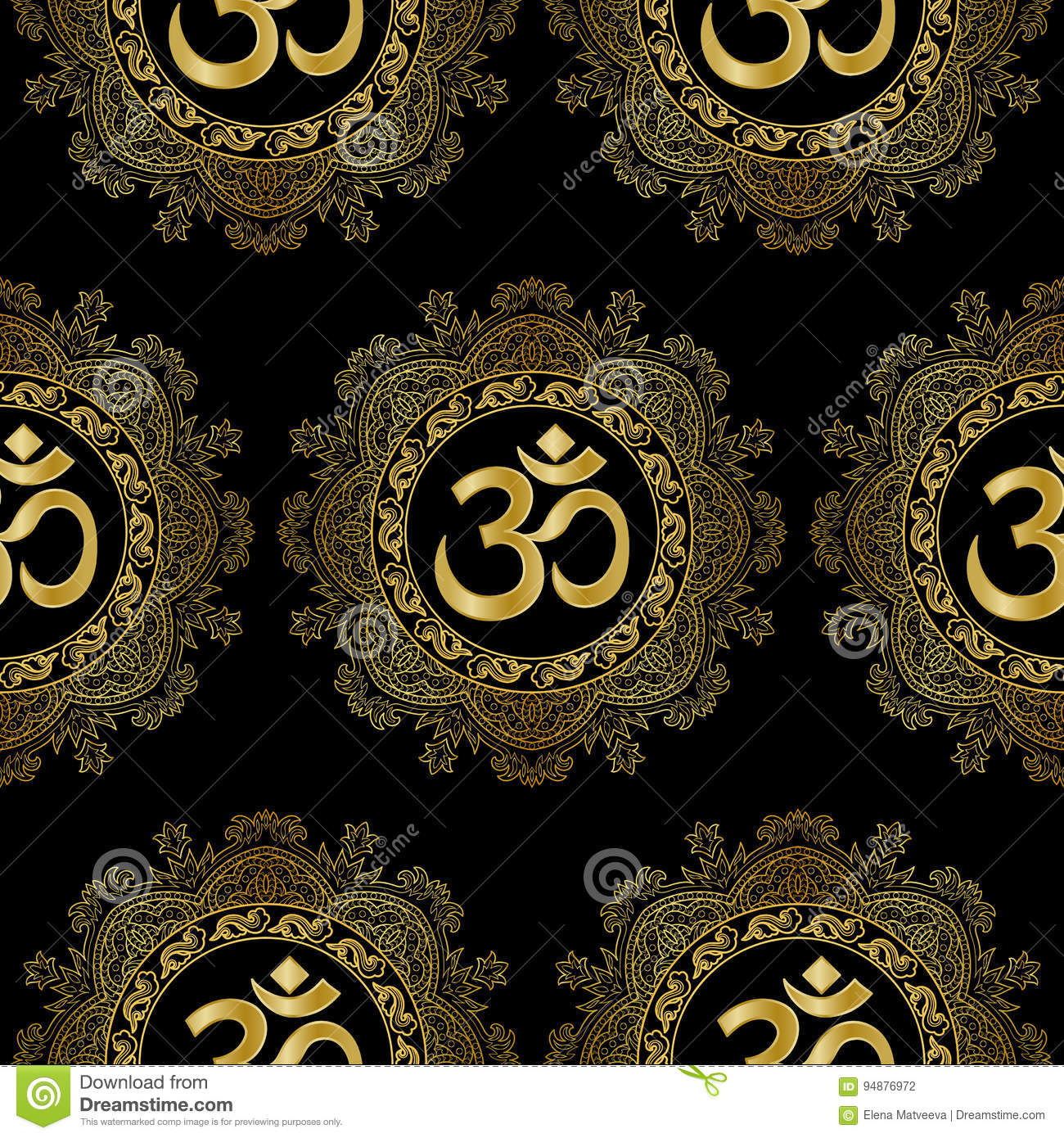 Cool Wallpaper Marble Mandala - om-mandala-seamless-pattern-gold-mantra-black-background-modern-wallpaper-textile-print-94876972  Snapshot_616896.jpg