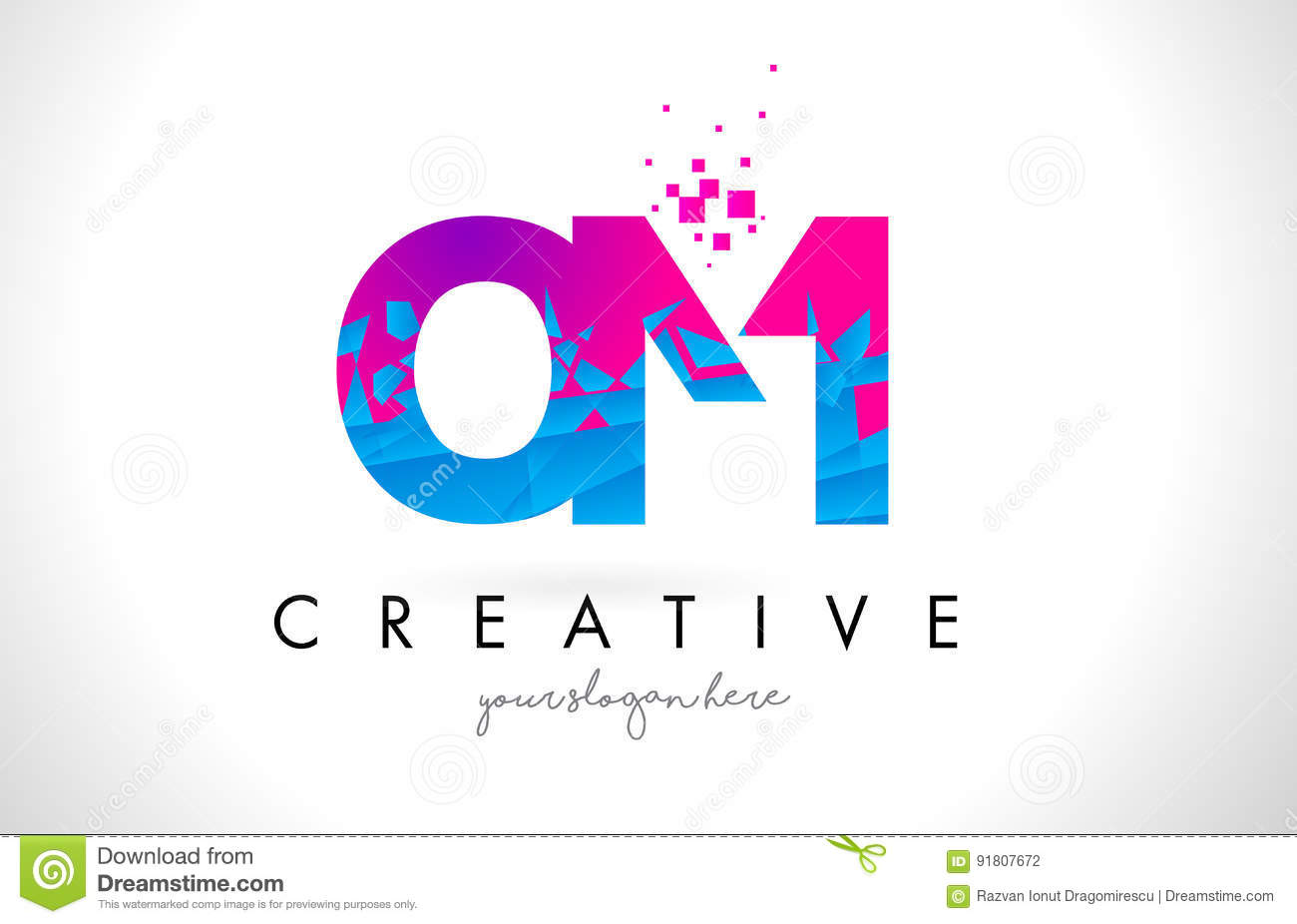 Blue om stock vector illustration of blue india hinduism 52085643 om o m letter logo with shattered broken blue pink texture desig stock photography biocorpaavc Gallery