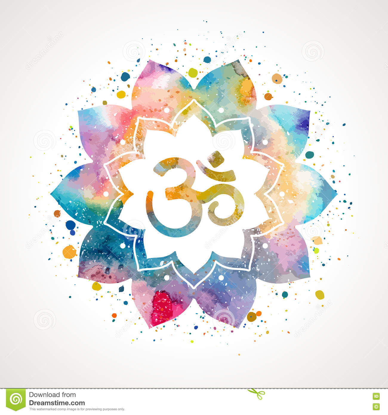 Om sign in lotus flower stock vector image 79794907 flower isolated lotus dhlflorist Choice Image