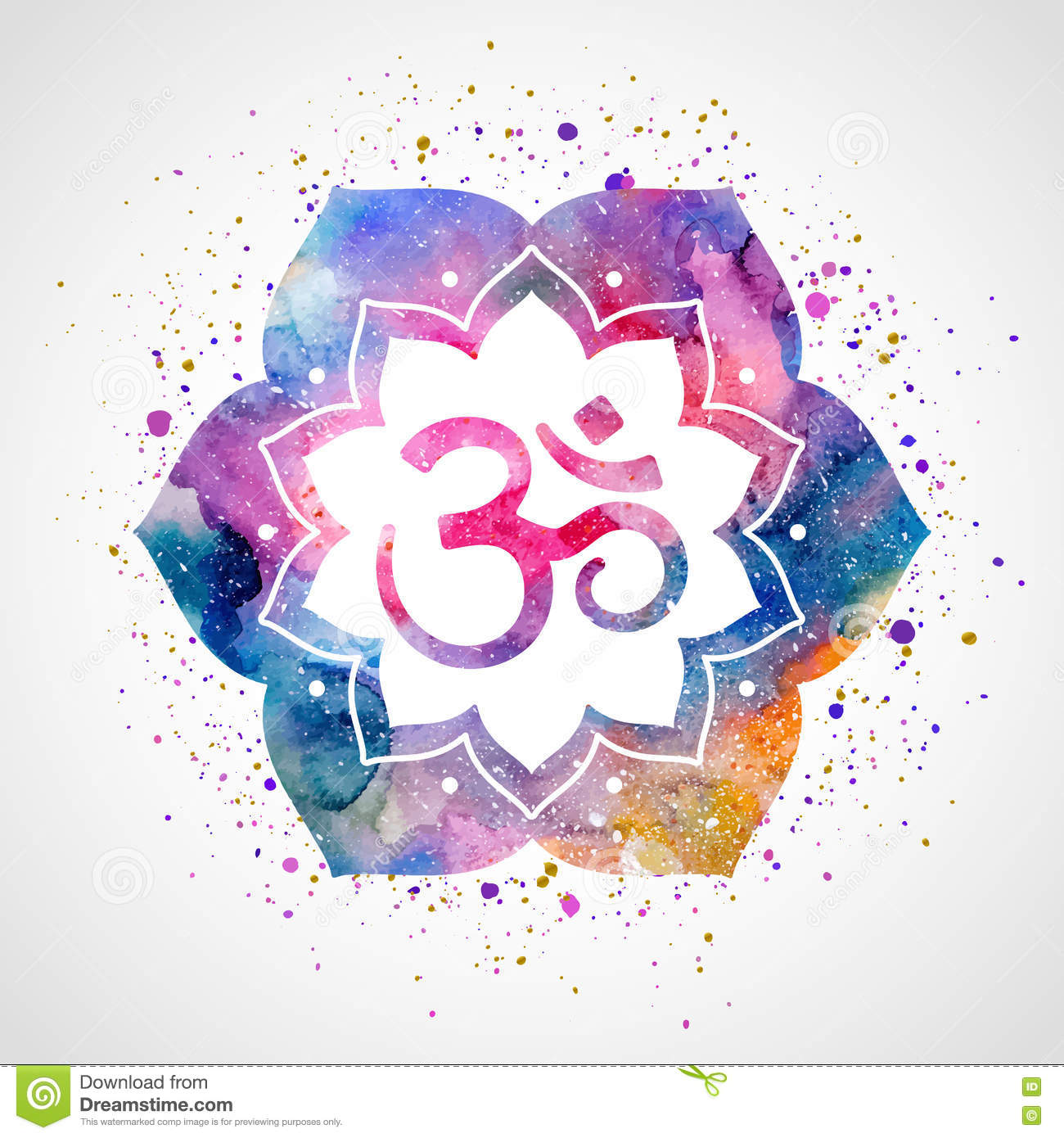 Om sign in lotus flower stock vector image 66869502 om sign in lotus flower royalty free stock photo dhlflorist Choice Image