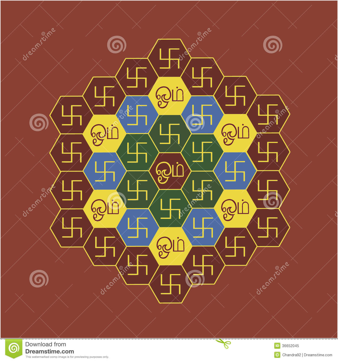 Om and swastika hexagonal chart royalty free stock photo Om picture download