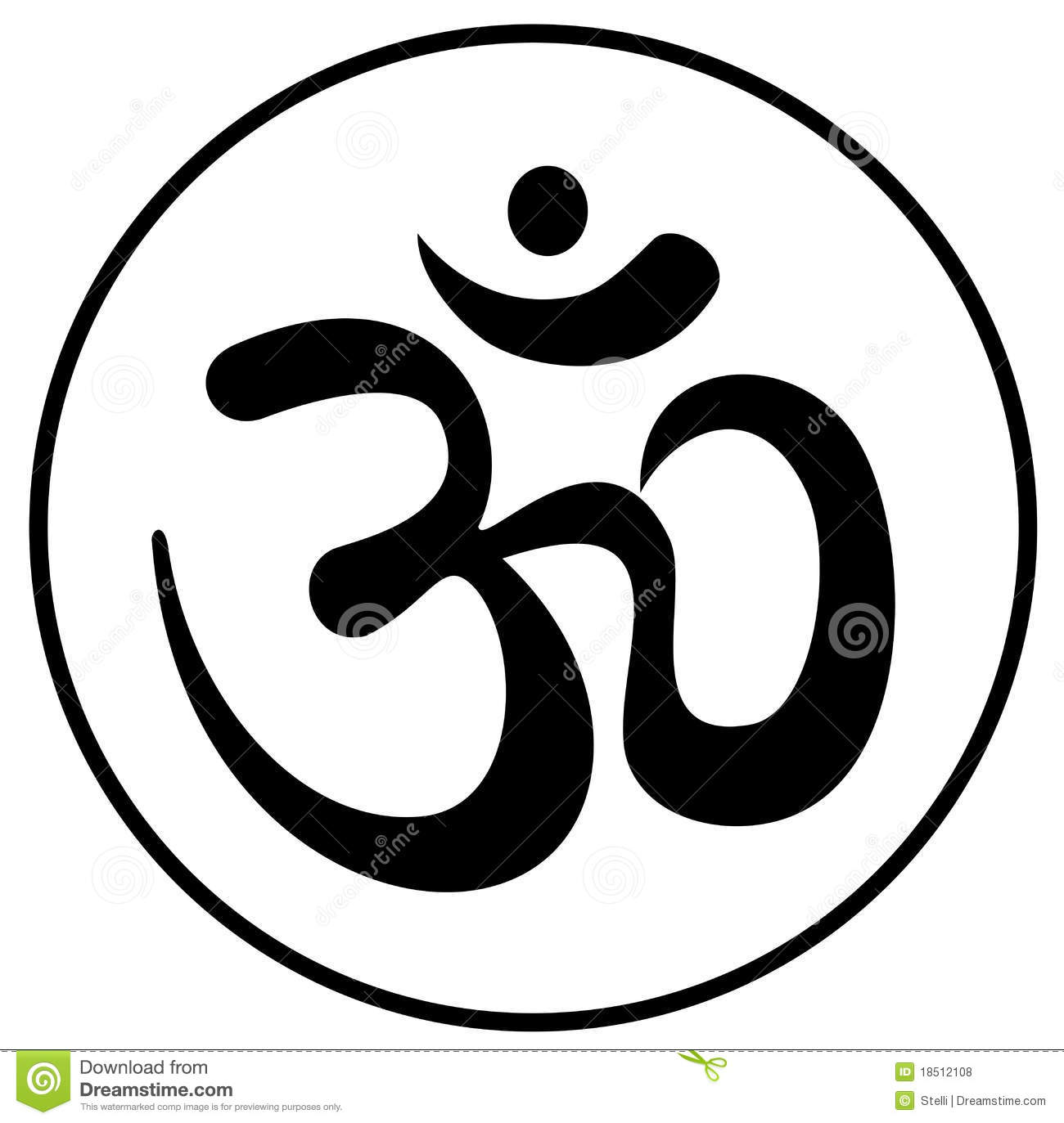 Om Symbol Royalty Free Stock Photos Image 18512108