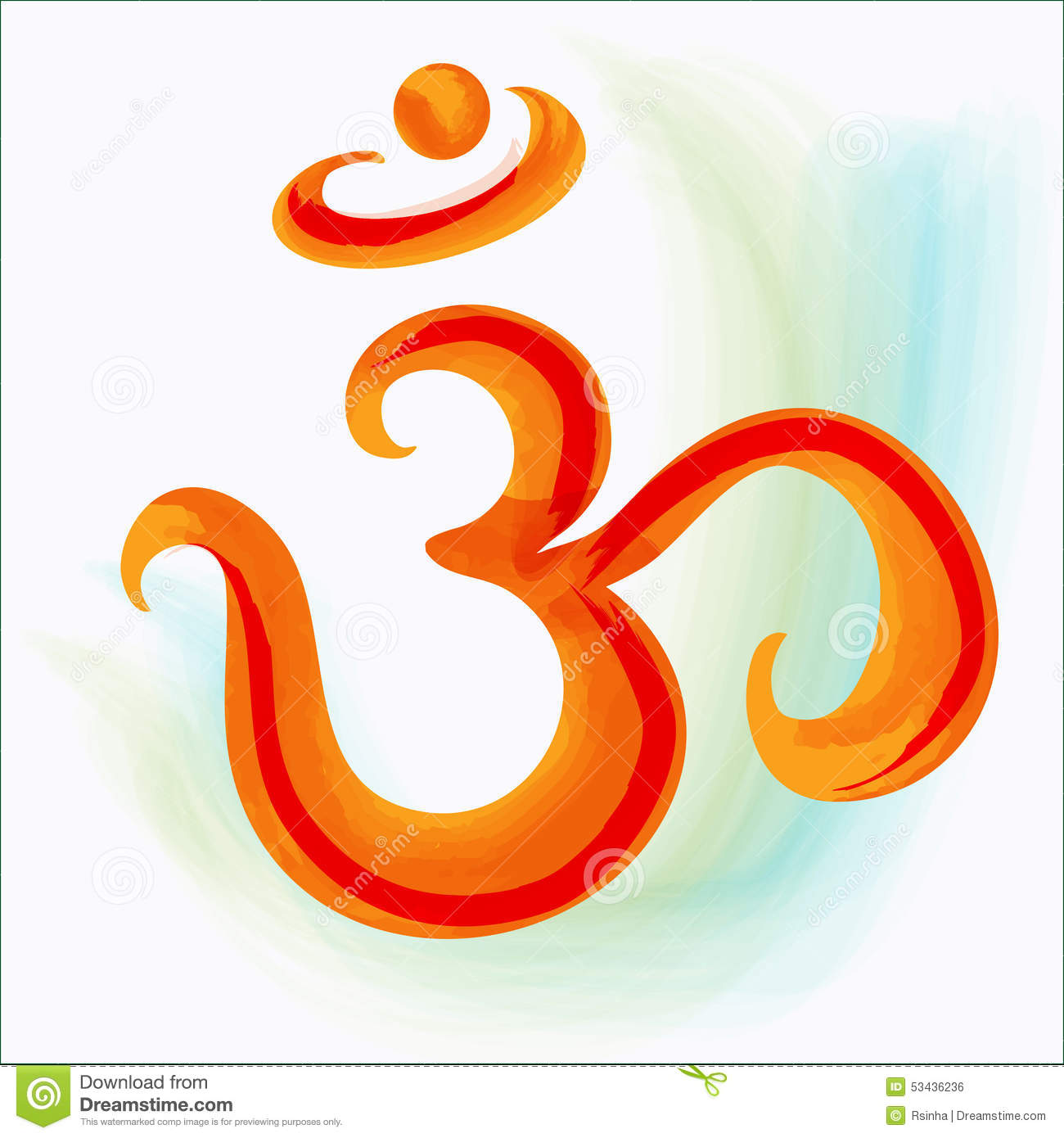 Om Symbol Stock Vector Illustration Of Chakra Asia 53436236